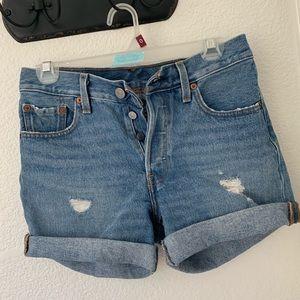 Levi's 501 denim shorts.